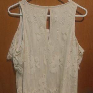 Cold shoulder lace blouse
